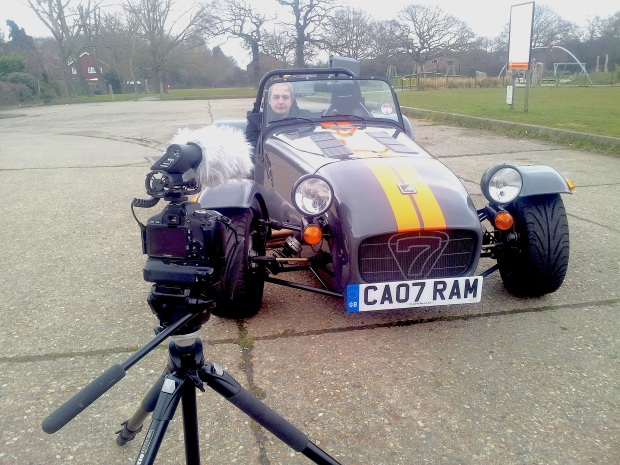 Filming the Caterham was a relaxed affair